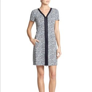 Tory Burch Patterned Navy Dress